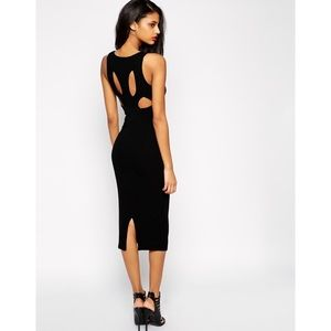 ASOS Midi Dress with Back Cut outs US 2